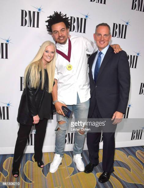 BMI VP and General Manager Barbara Cane producer Alex da Kid and BMI President and CEO Michael O'Neill at the Broadcast Music Inc honors Barry...