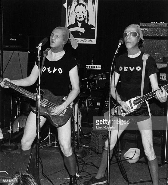 UNITED STATES MAY 25 MAX'S KANSAS CITY DEVO and Gerald CASALE and Mark MOTHERSBAUGH Gerald Casale and Mark Mothersbaugh performing on stage