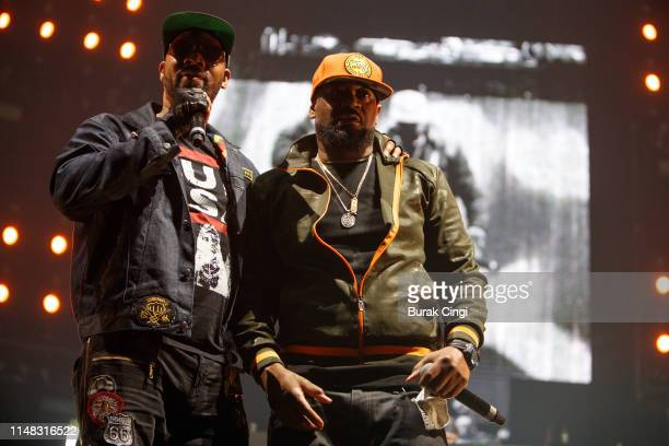 RZA and Ghostface Killa of Wu Tang Clan perform on stage at Gods of Rap tour at SSE Arena Wembley on May 10 2019 in London England