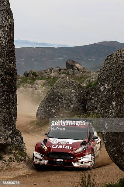SUWAIDI and GIOVANNI BERNACCHINI in FORD FIESTA R5 of team CULTURE amp SPORT QATAR RALLY TEAM in action during the SS11 Marao of the WRC Vodafone...