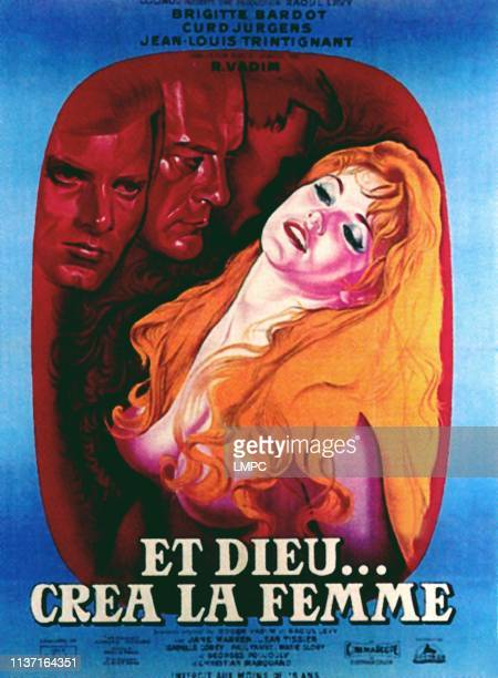 And God Created Woman poster Christian Marquand Curd Jurgens Brigitte Bardot 1956