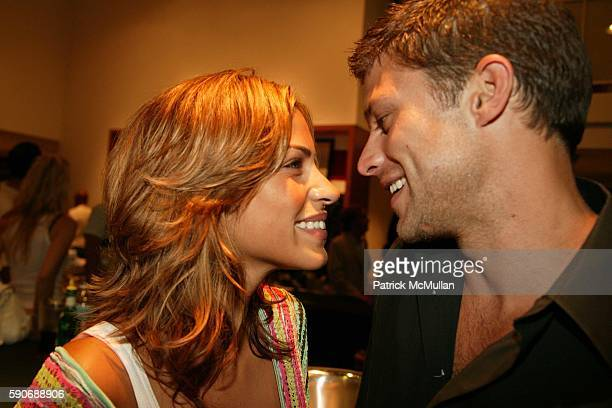 and Greg Vaughan attend Club Monaco Unveils Their New Home Collection at West Hollywood on July 27 2005