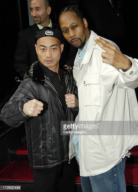 RZA and guest during 'Unleashed' New York Premiere at Loews 19th St in New York City New York United States