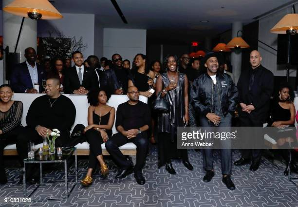 MAJOR and guests attend La La Anthony's PreGrammy Party Presented by Howard University on January 26 2018 in New York City