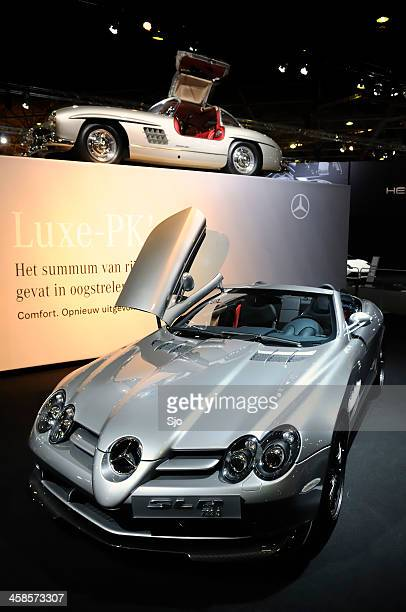 slr and gullwing - mercedes benz 300sl gullwing stock photos and pictures