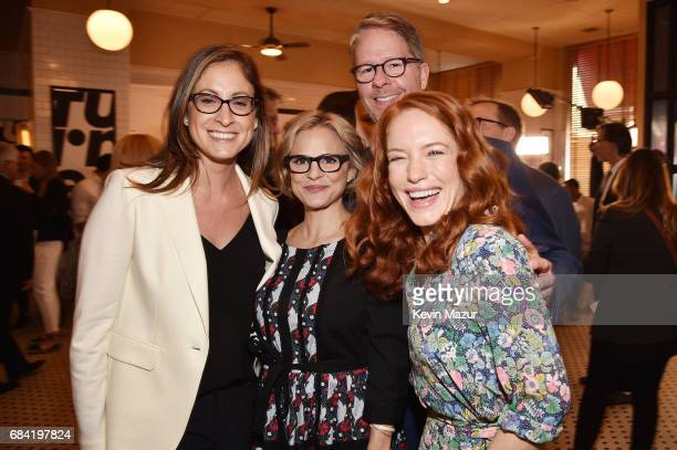 EVP and Head of Programming for TruTV Marissa Ronca Amy Sedaris TruTV president Chris Linn and Maria Thayer attend the Turner Upfront 2017 green room...