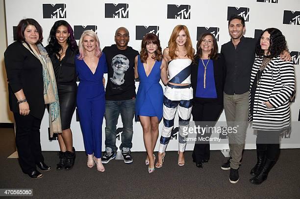MTV SVP and Head of Scripted Programming Mina Lefevre Nessa Carly Aquilino Charlamagne Tha God Katie Stevens Bella Thorne MTV President of...