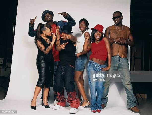 RB and hip hip group Big Brovaz circa 2001 They are Cherise Nadia JRock Randy Dion and Flawless