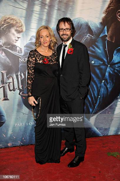 and husband Dr Neil Murray attend the world premiere of Harry Potter and The Deathly Hallows at Odeon Leicester Square on November 11 2010 in London...