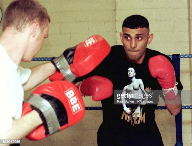 WBO and IBF Featherweight title holder Prince Naseem Hamed training in Sheffield this afternoon for his next bout on May 3 The boxer will meet Billy...