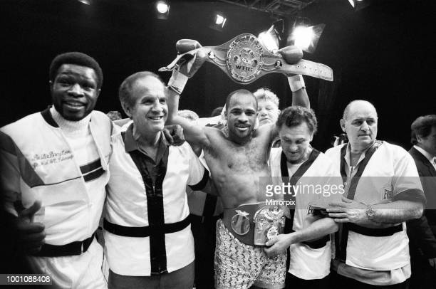 And IBF, welterweight title fight between Lloyd Honeyghan and Johnny Bumphus. Wembley Conference Centre, London, England. Honeyghan retained his...