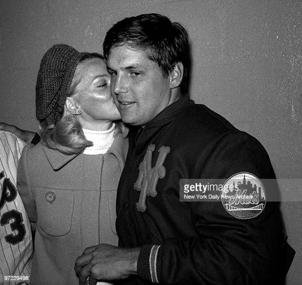 And if the new marks in the record book weren't enough to make the day's pitching worthwhile New York Mets' Tom Seaver's pretty wife Nancy adds some...