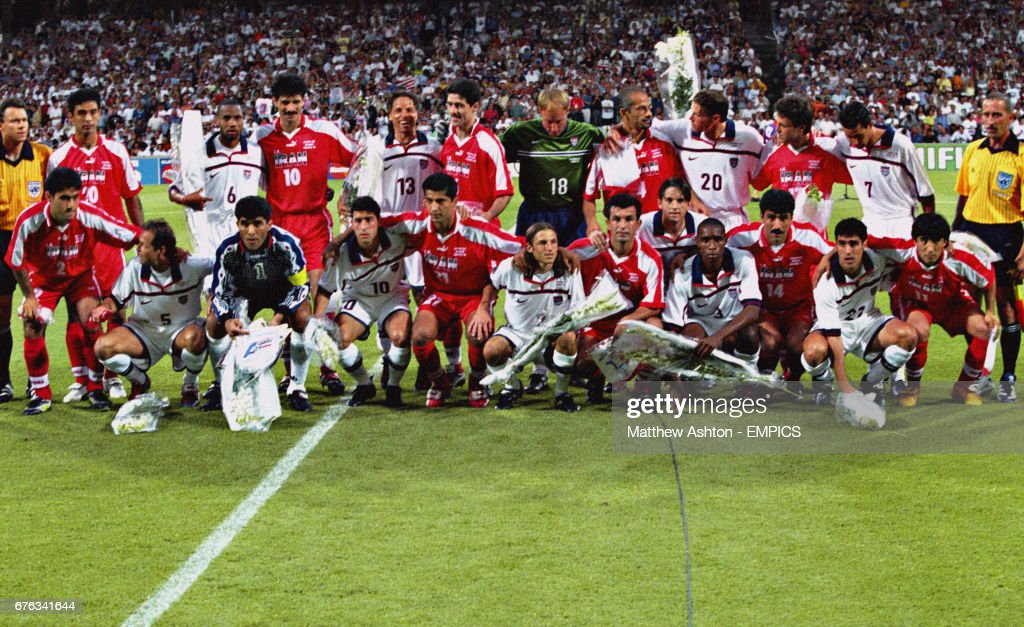 Soccer - FIFA World Cup France 98 - Group F - USA v Iran - Stade Gerland, Lyon : Nachrichtenfoto