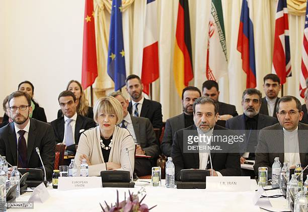 EU and Iranian Delegates Iranian deputy foreign ministers Seyed Abbas Araqchi and Majid Takht Ravanchi of Joint Comprehensive Plan of Action the...
