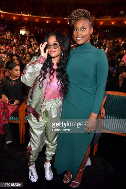 R and Issa Rae speaks onstage at Black Girls Rock 2019 Hosted By Niecy Nash at NJPAC on August 25 2019 in Newark New Jersey