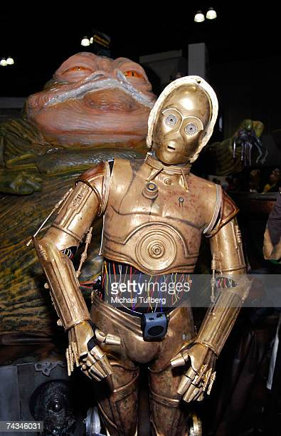 C3PO and Jabba The Hutt at the Star Wars Celebration IV convention held at the Los Angeles Convention Center on May 27 2007 in Los Angeles California