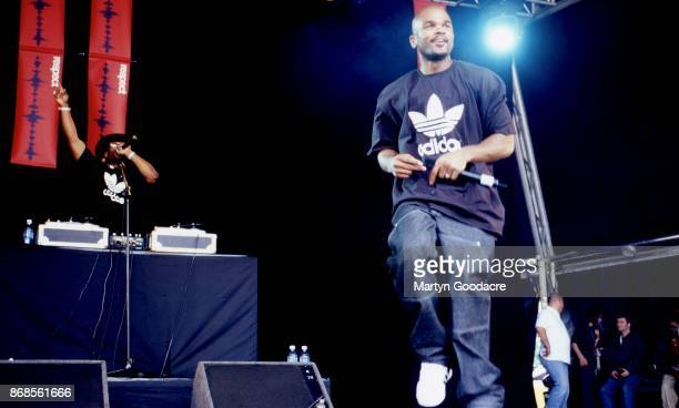 DMC and Jam Master Jay of Run DMC perform on stage at Respect Festival Finsbury Park London 21st July 2001