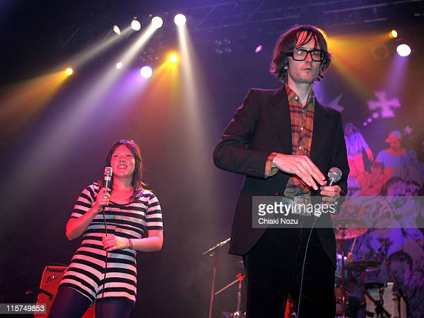 CSS and Jarvis Cocker during CSS and Jarvis Cocker in Concert December 8 2006 at The Forum in London Great Britain