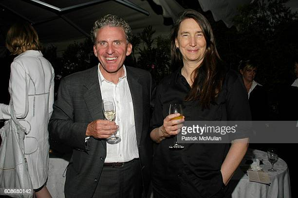 and Jenny Holzer attend THOMAS KRENS Hosts The Dinner In Honor Of Janna Bullock at Venice on June 8 2007 in Venice Italy