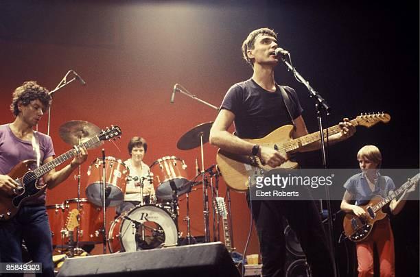 UNITED STATES AUGUST 10 ENTERMEDIA THEATER TALKING HEADS and Jerry HARRISON and Chris FRANTZ and David BYRNE and Tina WEYMOUTH Group performing on...