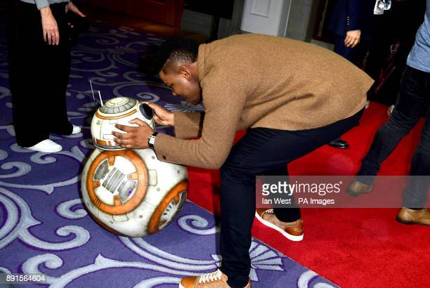 And John Boyega attending a Star Wars: The Last Jedi photocall at the Corinthia Hotel, London.