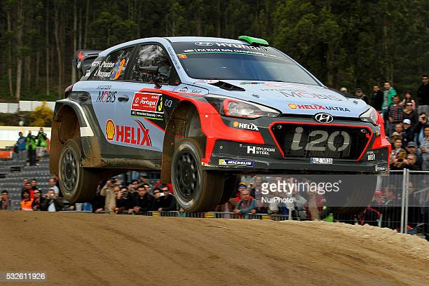 PADDON and JOHN KENNARD in HYUNDAI NEW GENERATION in action during the shakedow of the WRC Vodafone Rally Portugal 2016 in Matosinhos Portugal on May...