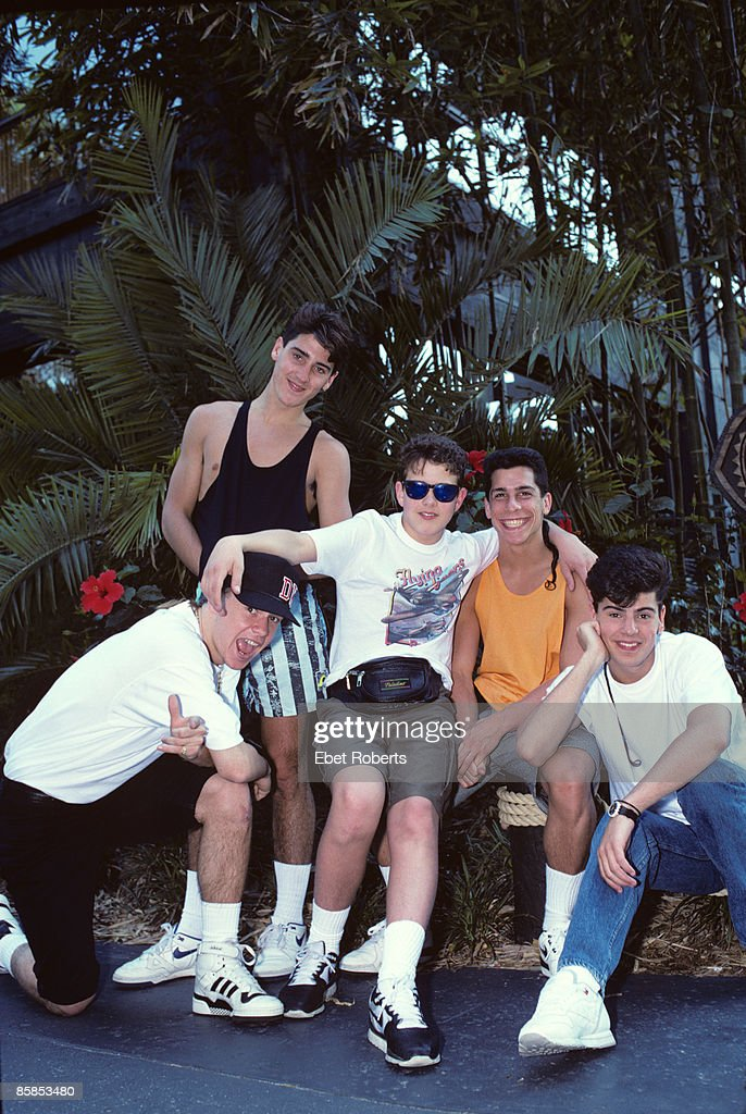NEW KIDS ON THE BLOCK and Jonathan KNIGHT and Donnie WAHLBERG and Jordan KNIGHT and Joey McINTYRE and Danny WOOD... : News Photo