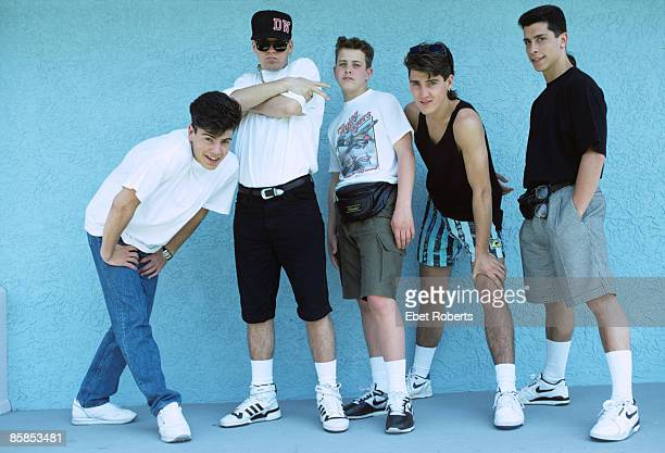 UNITED STATES MAY 12 NEW KIDS ON THE BLOCK and Jonathan KNIGHT and Donnie WAHLBERG and Jordan KNIGHT and Joey McINTYRE and Danny WOOD Posed group...