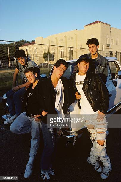 UNITED STATES NOVEMBER 01 NEW KIDS ON THE BLOCK and Jordan KNIGHT and Joey McINTYRE and Danny WOOD and Donnie WAHLBERG and Jonathan KNIGHT Posed...