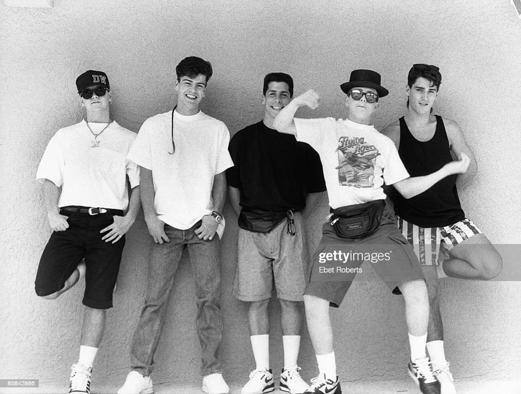 NEW KIDS ON THE BLOCK and Jordan KNIGHT and Joey McINTYRE and Jonathan KNIGHT and Donnie WAHLBERG and Danny WOOD... : News Photo