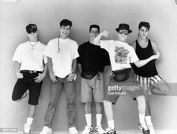 UNITED STATES MAY 12 NEW KIDS ON THE BLOCK and Jordan KNIGHT and Joey McINTYRE and Jonathan KNIGHT and Donnie WAHLBERG and Danny WOOD Posed group...