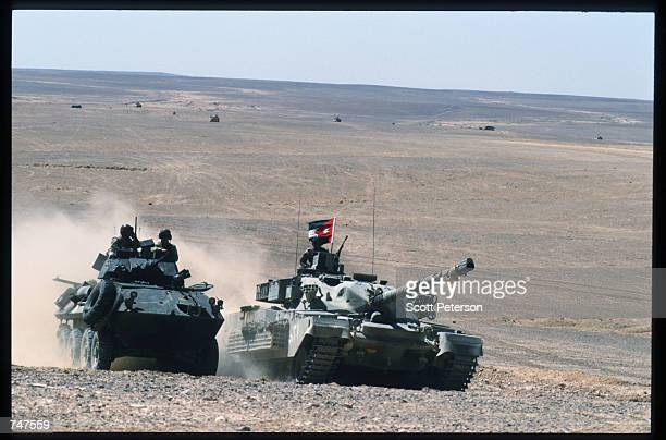 US and Jordanian troops train together May 31 1997 in the Quatraneh Desert Jordan Operation Infinite Moonlight is one of many multinational training...