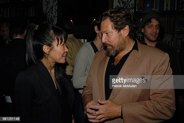 and Julian Schnabel attend Preview of EDUN's Premier Autumn/Winter 2005 Collection Hosted by Ali Bono and Rogan at The National Arts Club on February...