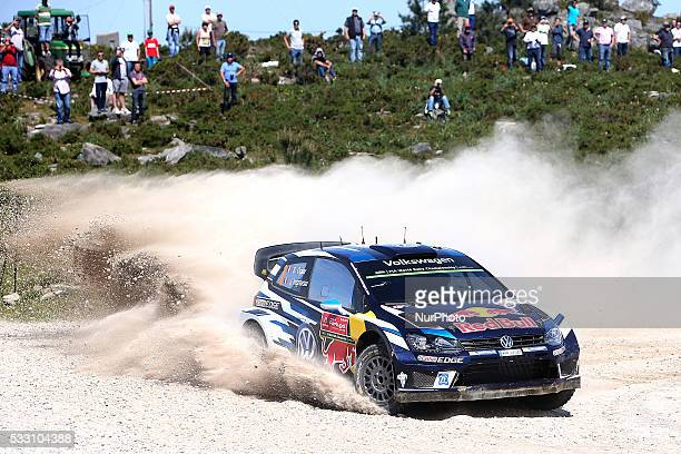 OGIER and JULIEN INGRASSIA in VOLKSWAGEN POLO R WRC of team VOLKSWAGEN MOTORSPORT in action during the SS4 Viana do Castelo of the WRC Vodafone Rally...