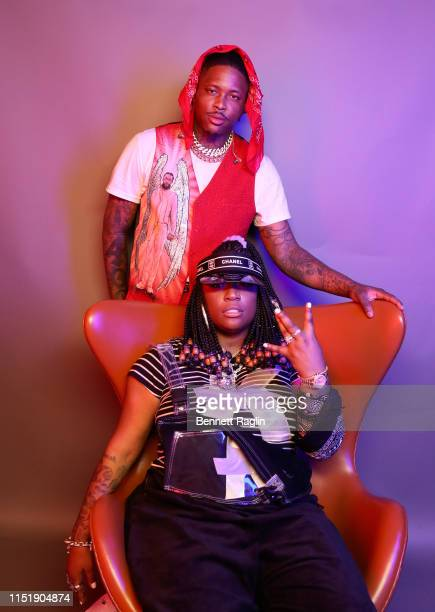 YG and Kamaiyah pose for a portrait during the BET Awards 2019 at Microsoft Theater on June 23 2019 in Los Angeles California