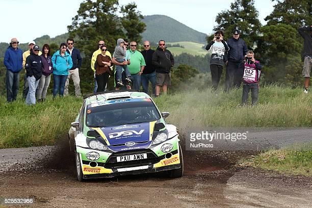 SAM MOFFETT and KARL ATKINSON in FORD FIESTA RRC during the SS3 Vila Franca S��o Br��s 1 FIA ERC Sata Rallye A��ores 2015 at Ponta Delgada Azores in...