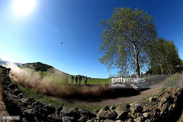 SAM MOFFETT and KARL ATKINSON in FORD FIESTA RRC during the SS4 Lagoa Meo 1 FIA ERC Sata Rallye A��ores 2015 at Ponta Delgada Azores in Portugal on...