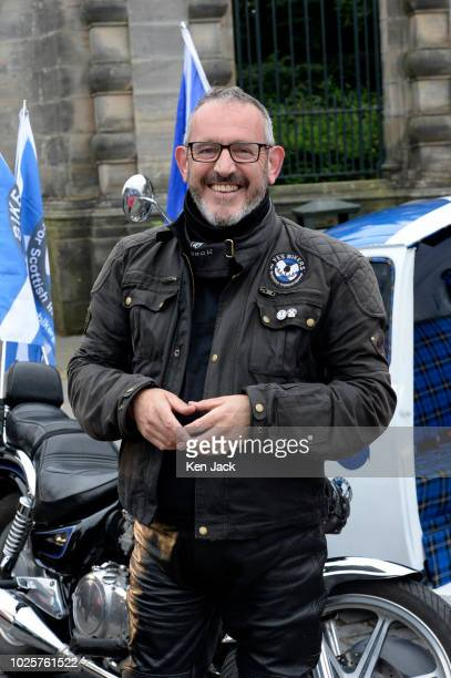 MP and keen biker Stewart Hosie joins Scottish independence supporters as they make their way in a march and rally organised by the campaign group...