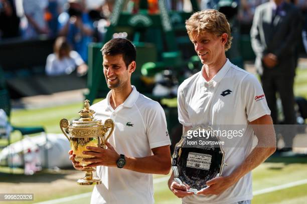 and KEVIN ANDERSON during day thirteen match of the 2018 Wimbledon on July 15 at All England Lawn Tennis and Croquet Club in LondonEngland