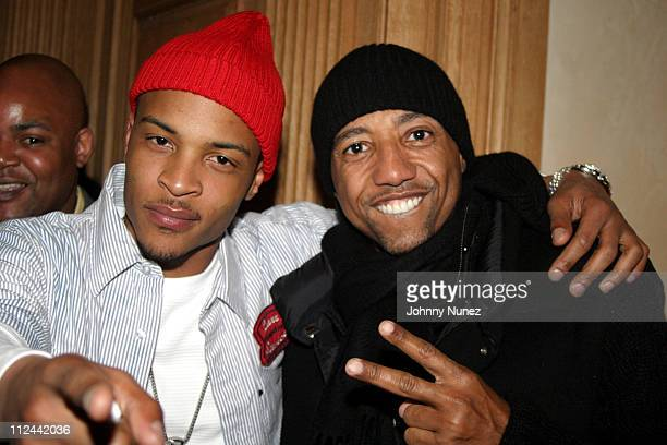 TI and Kevin Liles during Kevin Liles Birthday Party February 26 2007 at Lyor Cohen's Private Residence in New York New York United States