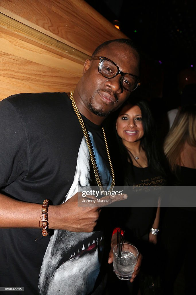 DJ MOS and Kiran Prasher attend Barry Mullineaux's Birthday Party at Greenhouse on January 17, 2013 in New York City.