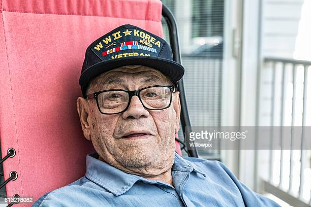 WWII And Korea Conflict USA Military Veteran Portrait