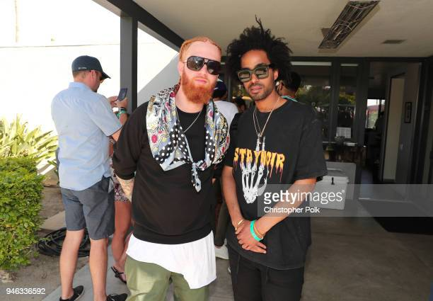 and Kwame Morris attend Interscope Coachella House 2018 on April 14 2018 in Palm Springs California