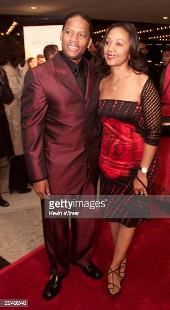 DL and Ladonna Hughley at the premiere of 'The Brothers' at the Loews Century Plaza Theater in Los Angeles Ca 3/21/01 Photo by Kevin Winter/Getty...