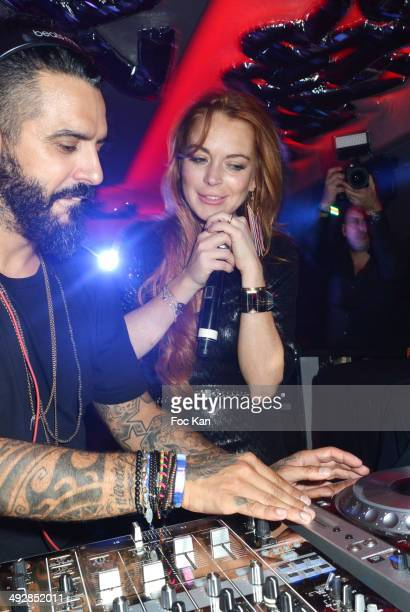 And Lindsay Lohan perform during the VIP Room JW Marriot : Day 8 - The 67th Annual Cannes Film Festival on May 21, 2014 in Cannes, France.
