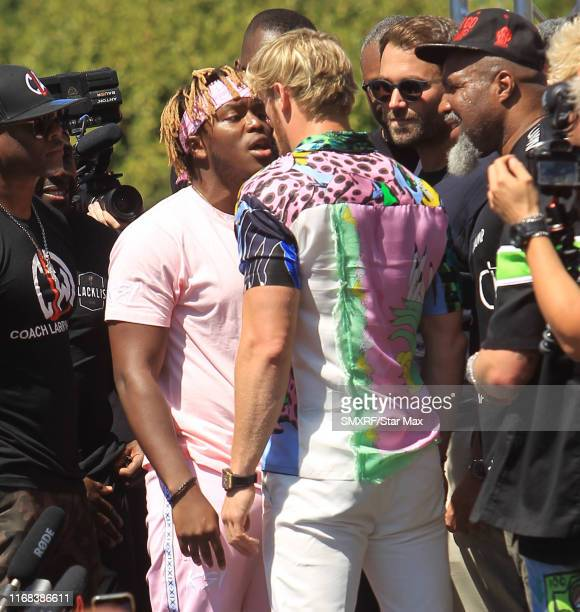 KSI and Logan Paul ar seen on September 14 2019 in Los Angeles
