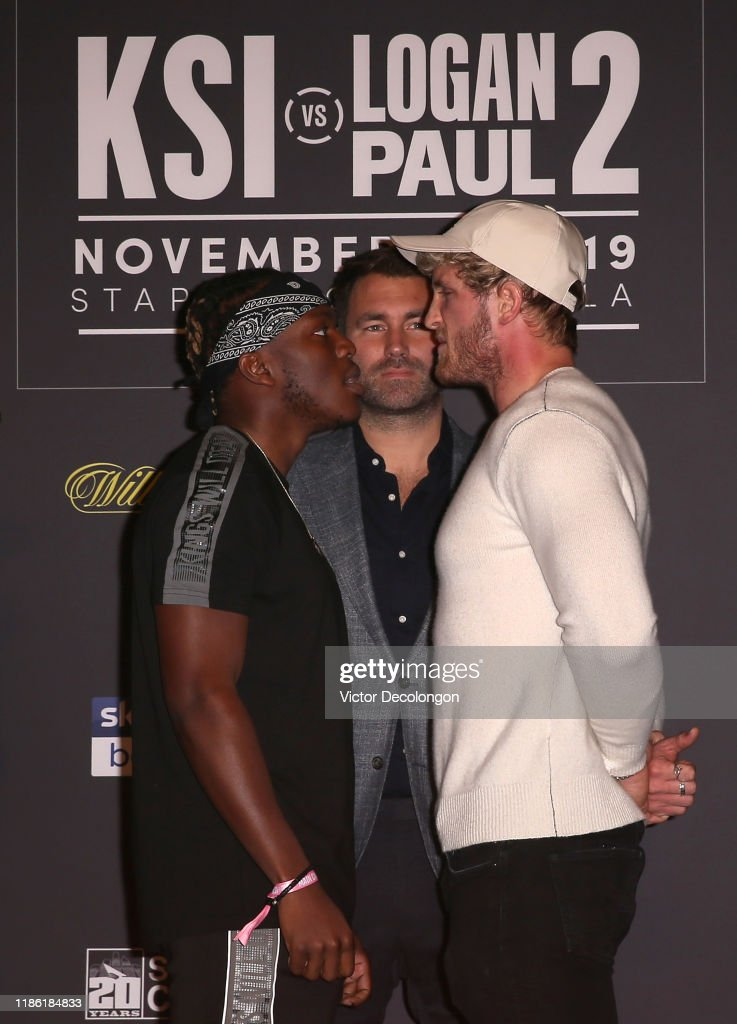 KSI VS. Logan Paul 2 - Final Press Conference : News Photo