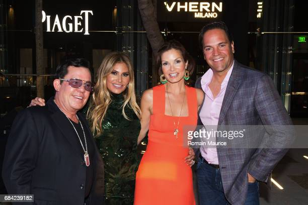 JR and Loren Ridinger Alicia and Mike Piazza attend the Haute Living Miami's Annual Haute 100 Dinner Presented By Hublot And Prestige Imports at...