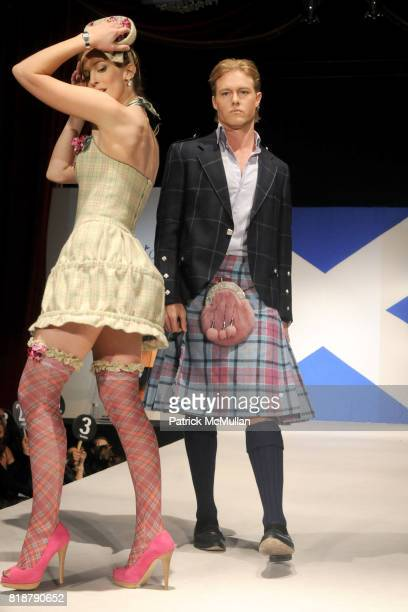 and Louise Linton attend GLENFIDDICH Presents DRESSED TO KILT at M2 Ultra Lounge on April 5 2010 in New York City
