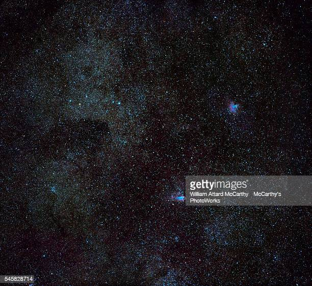 m16 and m17 - astrophysics stock pictures, royalty-free photos & images